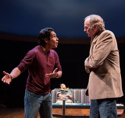 Lakin Valdez and Chelcie Ross in 'Mother Road' at Goodman Theatre New Stages Festival.