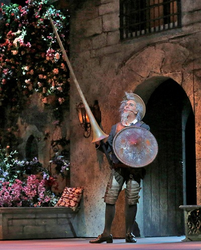 Ferruccio Furlanetto as 'Don Quichotte.' (San Diego Opera production)