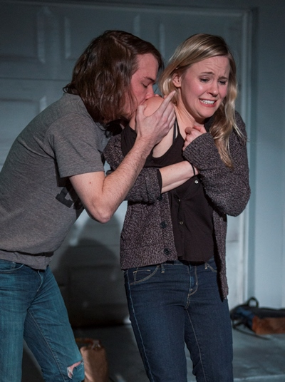 Alec (Matt Farabee) treats his sister Tess (Kelly O'Sullivan) to the thrill of a hickey. (Michael Brosilow)