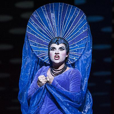 Kathryn Lewek, as Queen of the Night in a recent Kansas City Opera production. (Julie Denesha KCUR photo)