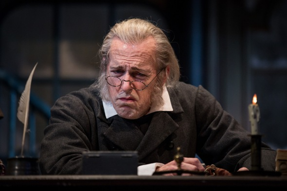 Larry Yando is Ebeneezer Scrooge in 'A Christmas Carol' at the Goodman. (Liz Lauren)