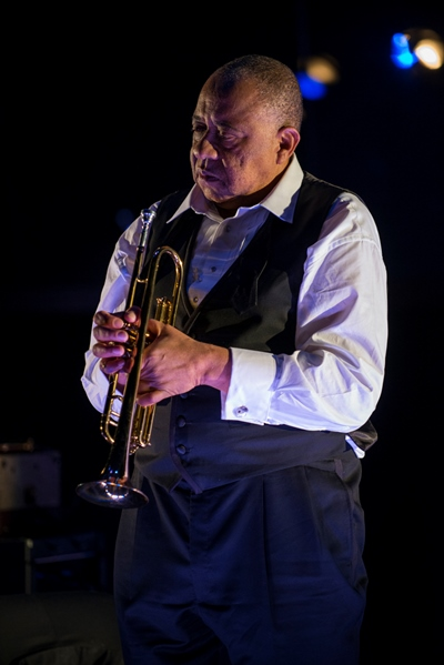 The trumpet and the man (Barry Shabaka Henley) were inseparable. (Michael Brosilow)