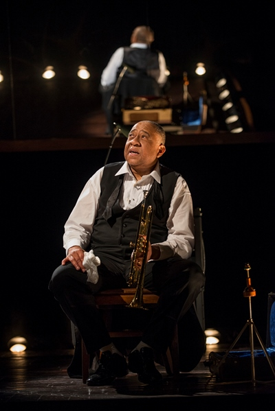 Louis Armstrong (Barry Shabaka Henley) looks back on his life with charged emotions. (Michael Brosilow)