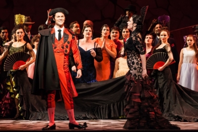Rob Ashford's production of 'Carmen,' in dress rehearsal, at HGO. (Lynn Lane)