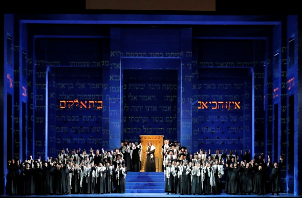 The temple of Solomon is under seige in 'Nabucco.' (Lyric Opera Chicago, Cory Weaver)