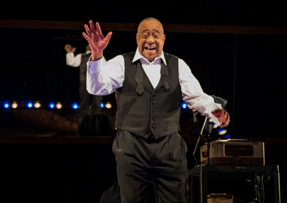 "Louis ""Satchmo"" Armstrong (Barry Shabaka Henley) remembers the good times. (Michael Brosilow)"