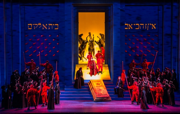 Verdi's Nabucco is a grand pageant at Lyric Opera Chicago. (Andrew Cioffi)