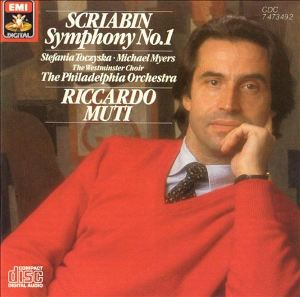 Riccardo Muti first recorded the Scriabin symphonies with the Philadelphia Orchestra.