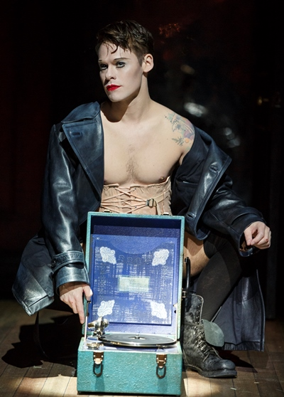 The Emcee (Randy Harrison) is a figure of many personas in 'Cabaret.' (Joan Marcus)
