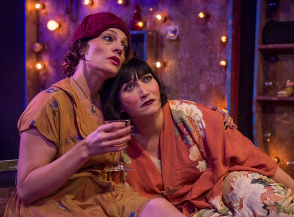 Jennifer Engstrom, left, and Mierka Girten play testy pals in 'The Mutilated' at A Red Orchid Theatre. (Michael Brosilow)