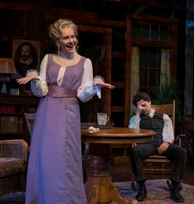 Edmund (Michael Doonan) has heard the ironic rant by his mother (Mary Beth Fisher) before. (Michael Brosilow)