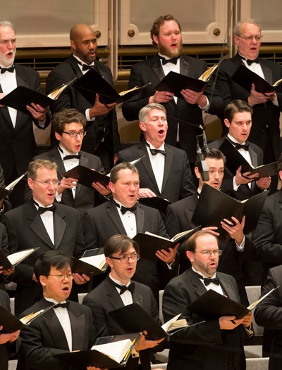 Verdi's score challenges the CSO choristers with quick bursts of music.