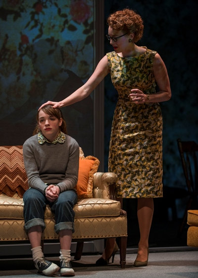 Her mom (Amanda Drinkall) offers small comfort to the depressed adolescent Mary Page (Caroline Hefferman). (Michael Brosilow)