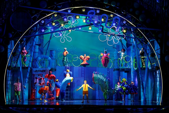 Brilliant colors light up the undersea world of 'The SpongeBob Musical.' (Joan Marcus)