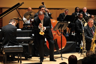 A towering jazz and classical performer, Wynton Marsalis also composes. (Frank Stewart)