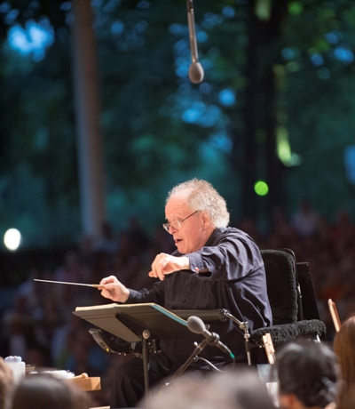 James Levine now conducts from a motorized chair. (Patrick Gipson)