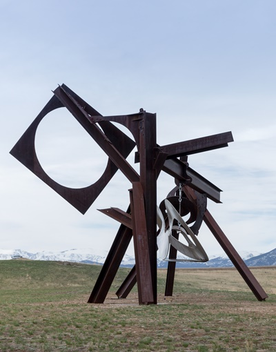 Mark Di Suvero's sculpture 'Beethoven's Quartet' can be 'played' by visitors. (Erik Peterson)