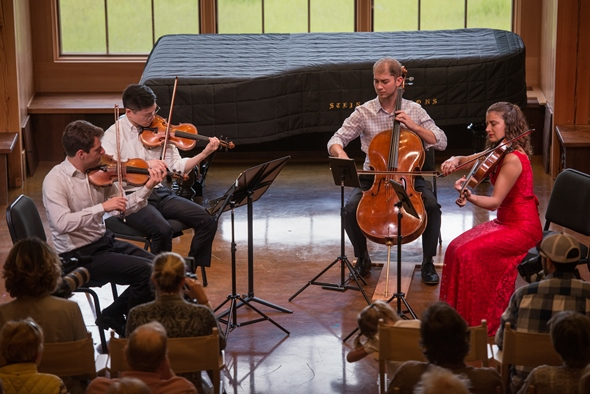 The Dover Quartet performed Beethoven's late quartet, Op. 132. (Erik Peterson)