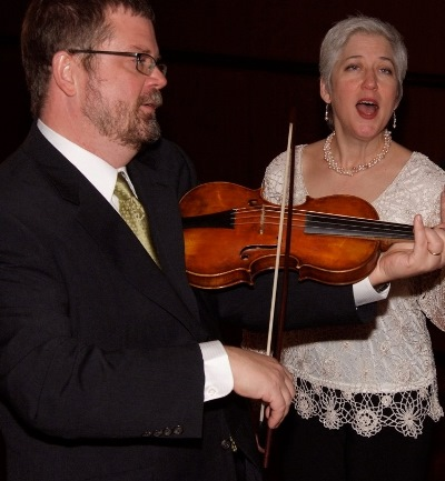 Violinist David Douglass and vocalist Ellen Hargis lead the Newerry Consort.