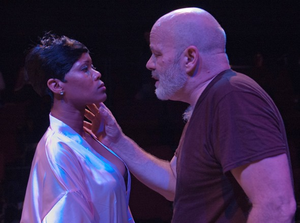 Katherine Parr (AnJi White) treads a perilous path with her new husband, King Henry VIII (Steve Pickering). (Lara Goetsch)