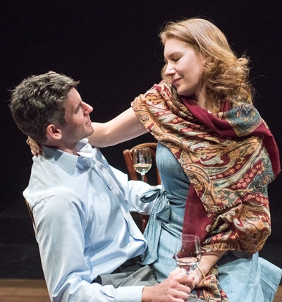 Lovers Jerry (Sam Guinan-Nyhart) and Emma (Abigail Boucher) in happier times. (Dean La Prairie)
