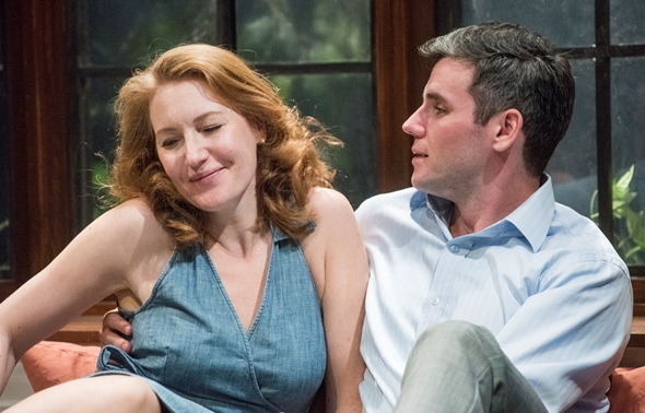 Emma (Abigail Boucher) and Jerry (Sam Guinan-Nyhart) find bliss outside her marriage. (Dean La Prairie)