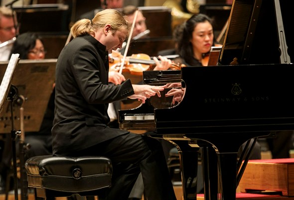 Denis Kozhukhin displayed both the virtuosity and the temperament for Prokofiev's Second Piano Concerto. (Todd Rosenberg)