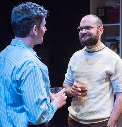 Pals Jerry (Sam Guinan-Nyhart, left) and Robert (Keith Neagle) share a false sense of normalcy. (Dean La Prairie)
