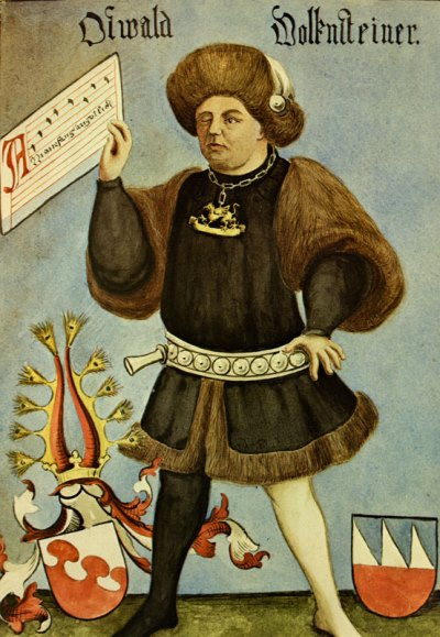 The early 15th-century bard Oswald von Wolkenstein was a man of many parts.
