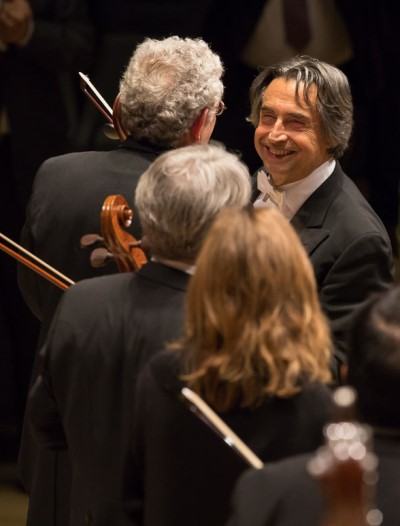 It wasn't easy in the untested hall, but conductor Riccardo Muti prevailed. (Todd Rosenberg)