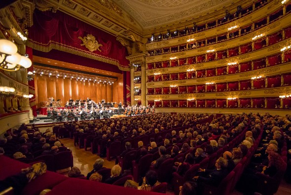 At posh, multi-tiered La Scala, the Riccardo Muti and the Chicago Symphony played to sold-out audiences. (Todd Rosenberg)