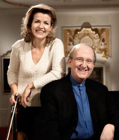 Longtime collaborators Anne-Sophie Mutter and Lambert Orkin. (Harald Hoffmann/DG)