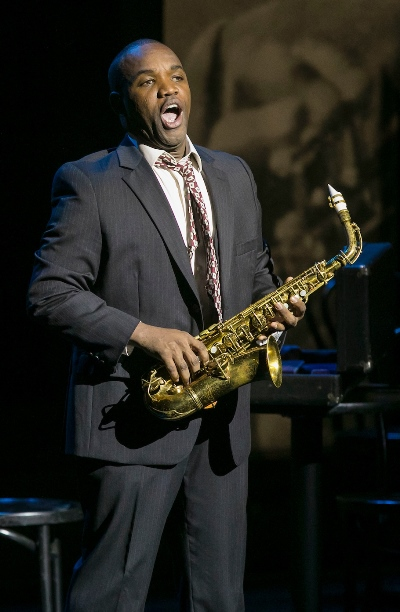 Tenor Lawrence Brownlee portrays sax great Charlie Parker. (Todd Rosenberg)