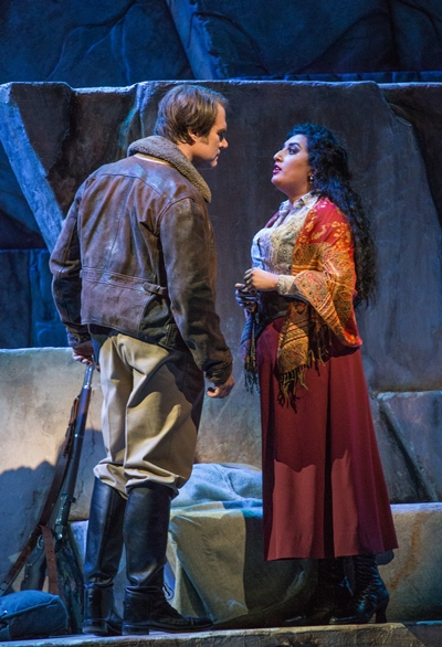 The bloom is off the rose for squabbling Don José (Brandon Jovanovich) and Carmen (Anita Rachvelishvili). (Andrew Cioffi)