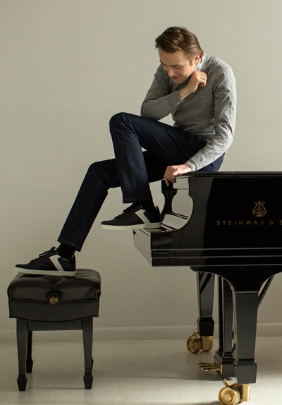 Pianist Daniil Trifonov, atop the piano and on top of his game.
