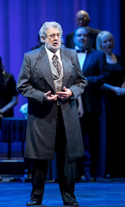 Placido Domingo: the familiar, pungent timbre still intact. (Todd Rosenberg)