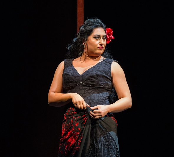 Mezzo-soprano Anita Rachvelishvili brings the heat as the Lyric's new Carmen. (Andrew Cioffi)