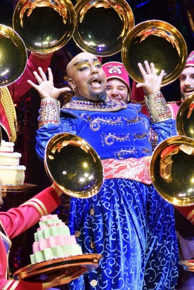 As the Genie, Anthony Murphy delivers a tour de force performance. (Deen van Meer)