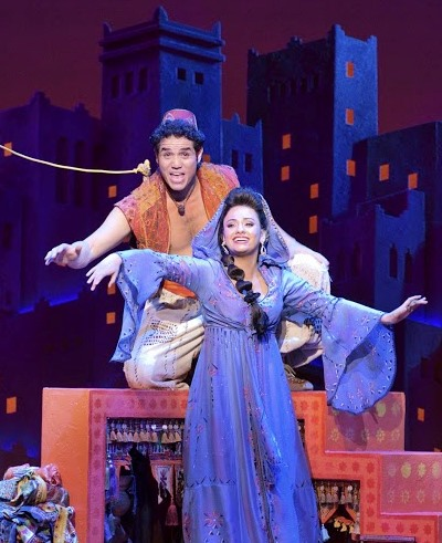 Adam Jacobs and Isabelle McCalla portray the young lovers in 'Aladdin.' (Deen van Meer)