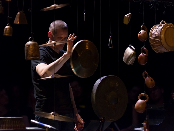 Matthew Duvall, percussionist with Eighth Blackbird and curator of the Whisper(s) concert. (Nathan Keay)