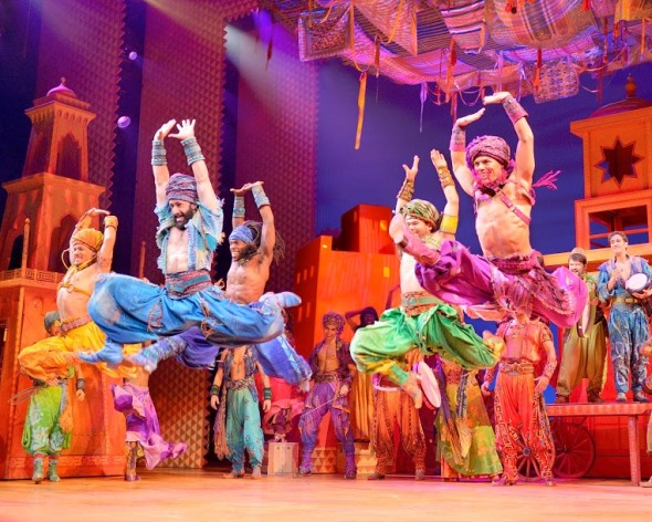 The riotous color and pizzazz of Broadway is everywhere in the touring production of 'Aladdin.' (Deen van Meer)