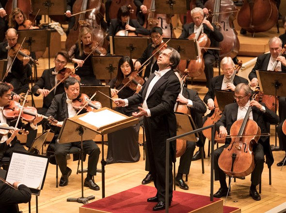 Riccardo Muti leads Brahms: a sure ear for voicing and dynamics that begin with a true pianissimo. (Todd Rosenberg)
