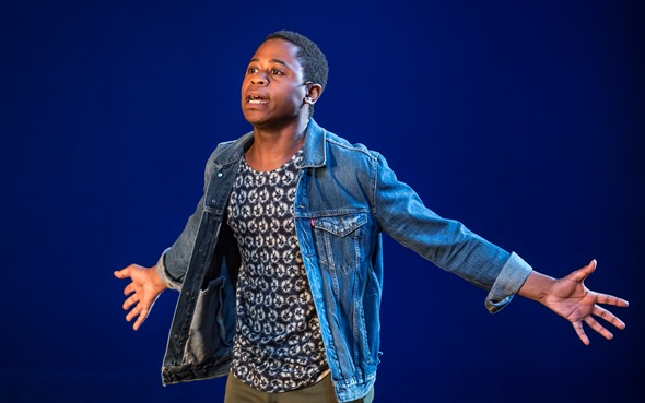 "Daniel Kyri plays the headstrong Shedrick in Charles Smith's ""Objects in the Mirror"" at Goodman Theatre. (Liz Lauren)"