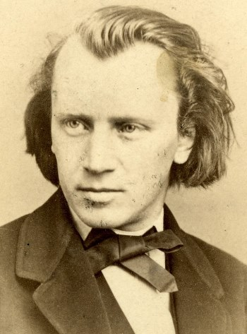 The young Johannes Brahms, around the time his Piano Sonata No. 2 was new.