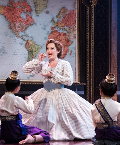 Anna (Laura Michelle Kelly) tells the children they are precisely her cup of tea.