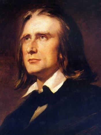 "Franz Liszt, about age 45, shortly after he ""simplified"" the ""Transcendental"" Etudes."