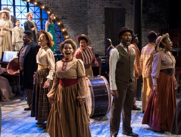 The company of Griffin Theatre's 'Ragtime' in the production's opening number. (Michael Brosilow)