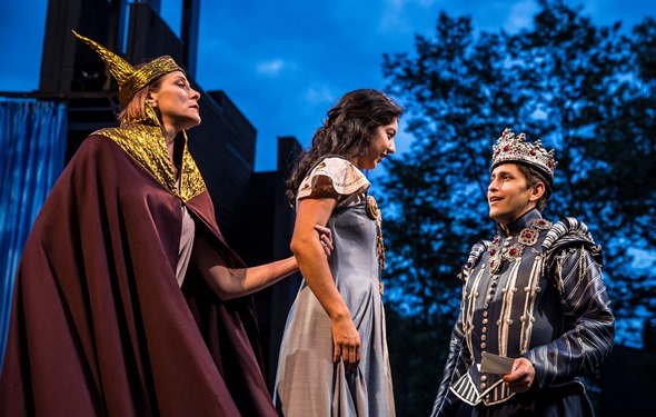 King Antiochus (Tracy Michelle Arnold) clings to his daughter (Cher Desiree Alvarez), who is attracted to Pericles (Juan Rivera Lebron). (Liz Lauren)