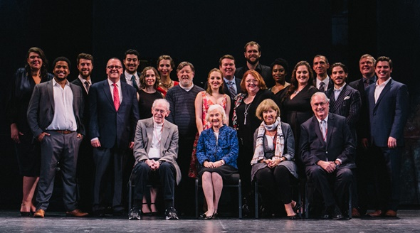 The 2018-19 training ensemble, with Final Audition sponsors, Lyric Opera directors and Ryan Center coaches. (Jaclyn Simpson)