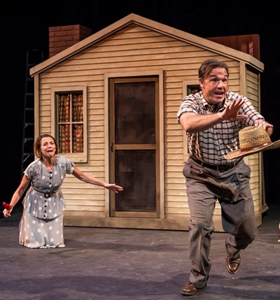 David Daniel and Tracy Michelle Arnold rule over a realm turned dustbowl. (Liz Lauren)